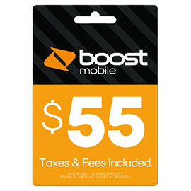 $55 Boost Mobile Re-Boost Card