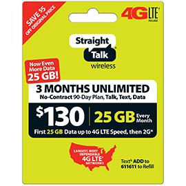 Straight Talk $130 Unlimited Prepaid Card