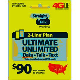 Straight Talk $90 Unlimited Prepaid Card