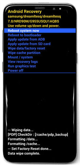 gs8 select reboot system now