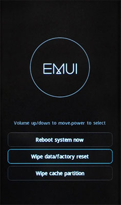 Huawei reset screen