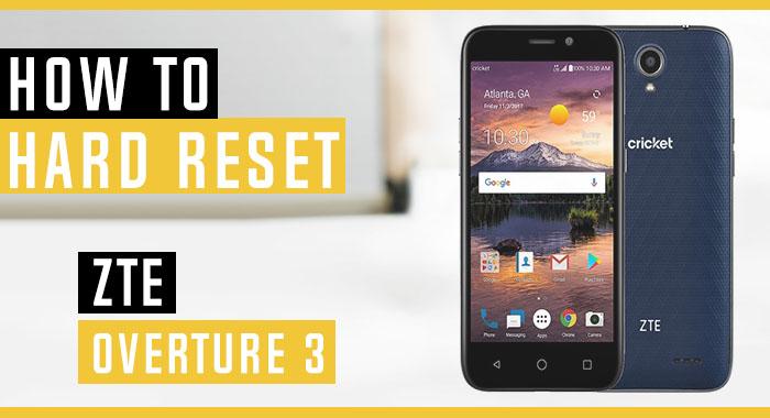 How to Hard Reset ZTE Overture 3 - Swopsmart