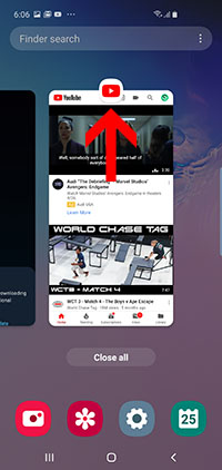 Choose youtube icon - Arrow