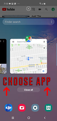 choose app - double screen