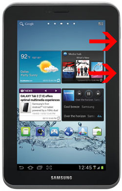 samsung galaxy tab 2 - all buttons